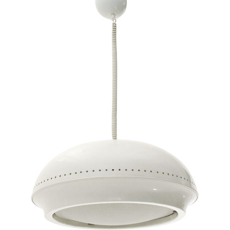 White 'Nigritella' pendant lamp mid century by Tobia Scarpa for Flos, 1960s
