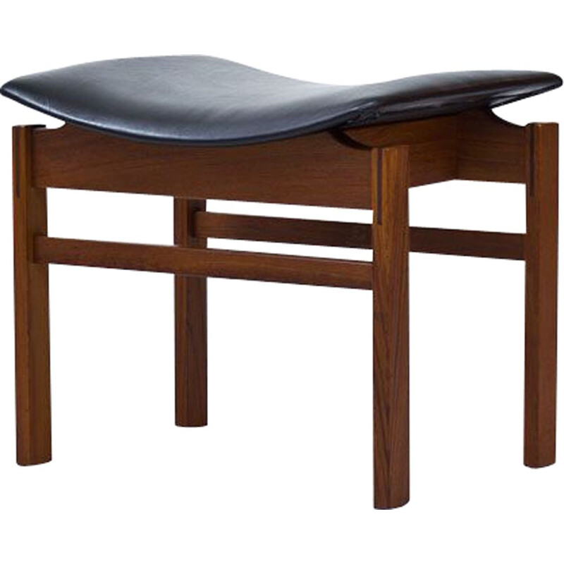 Danish Teak and Leather Stool by France and Son