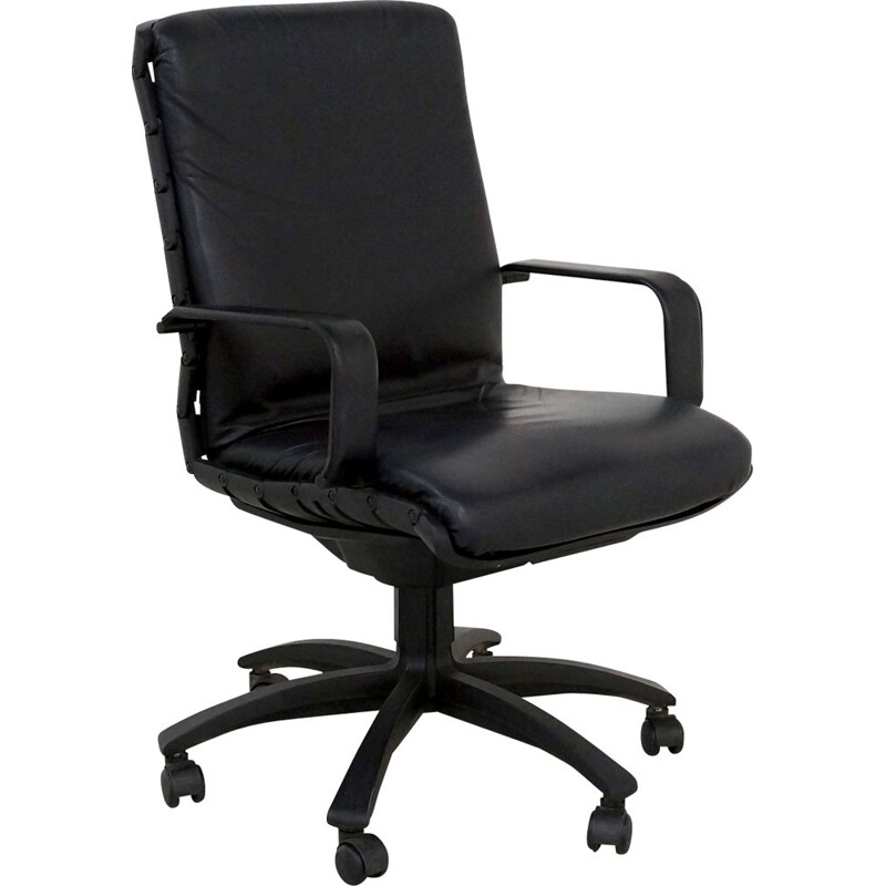 Black Antropovarius Office Chair mid century by Ferdinand A. Porsche for Poltrona Frau