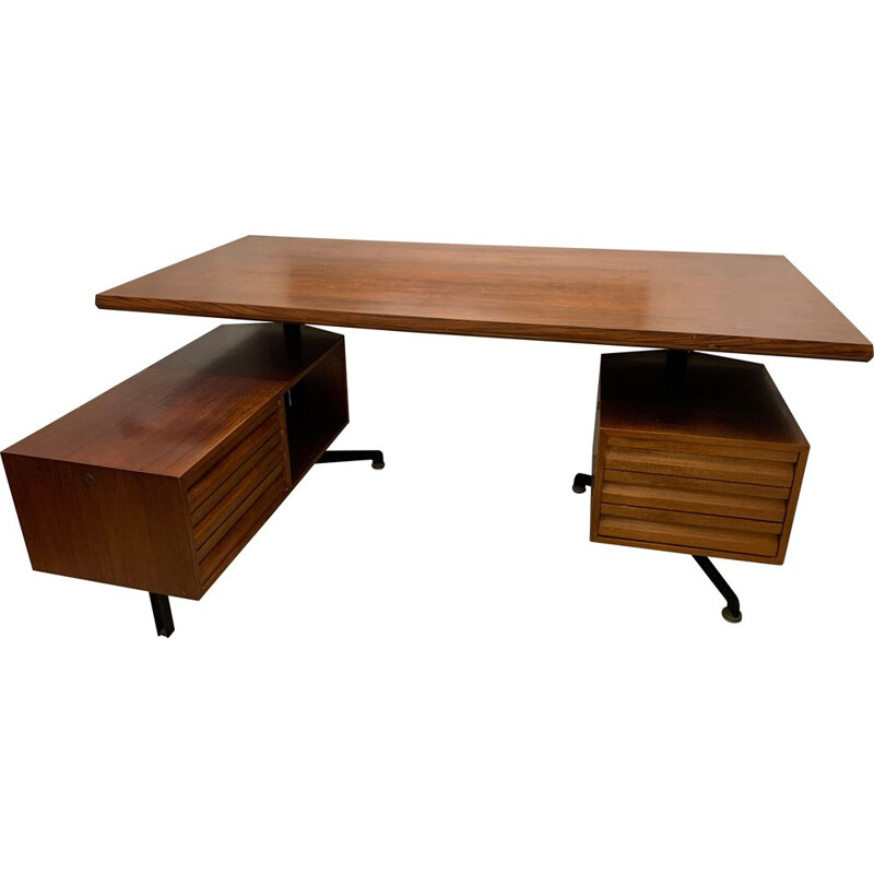 Vintage desk by Osvaldo Borsani for Tecno Milano 1960