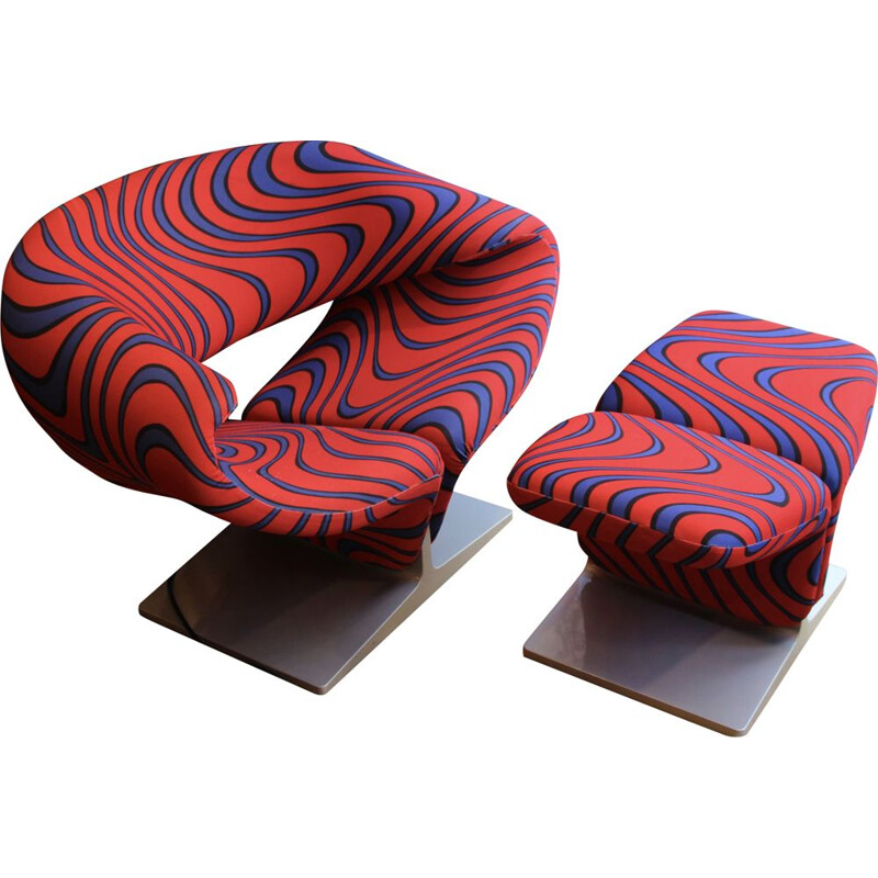 Vintage armchair Ribbon by Pierre Paulin for Artifort