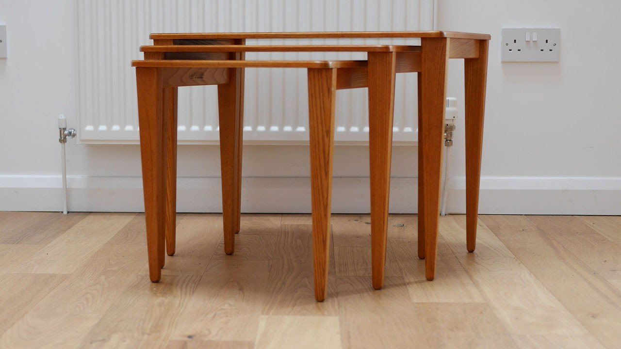 Nesting tables in teak and beech wood gordon russel 1960s previous next watchthetrailerfo