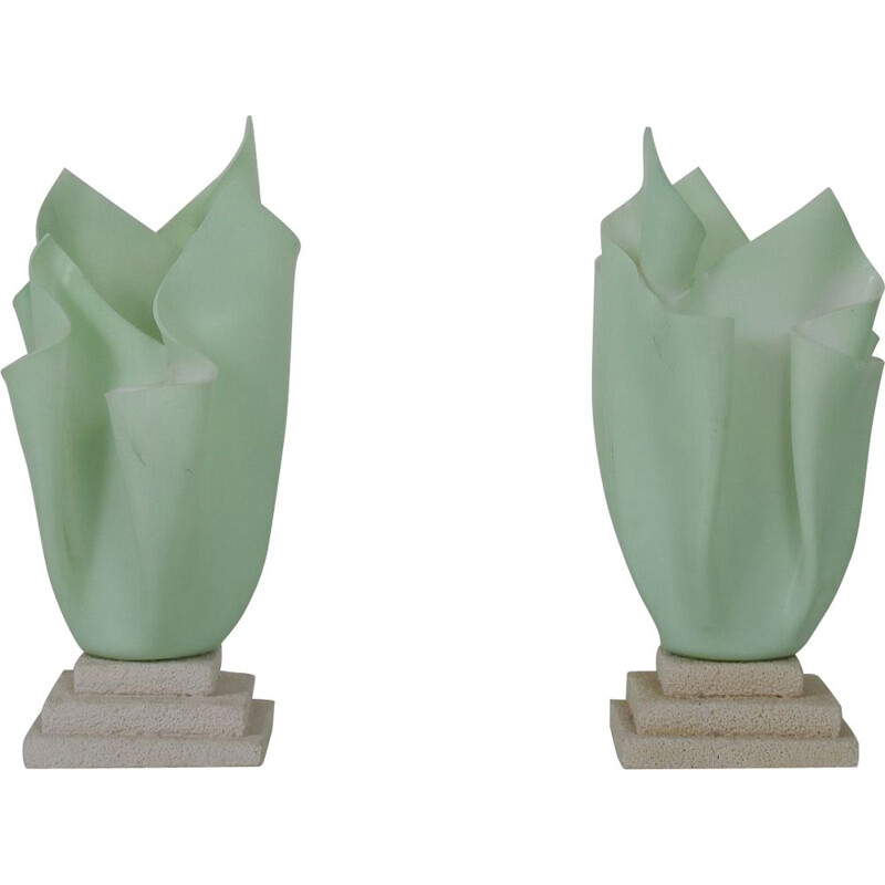 Pair of bed lamp mid century by Georgia Jacob, France 1970s