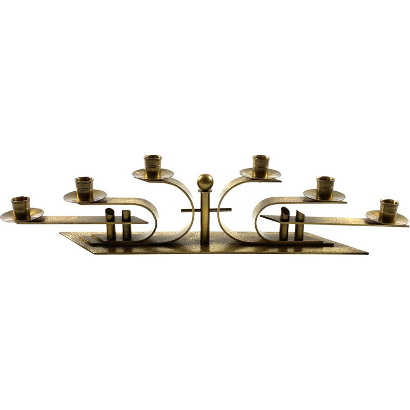 Great Brass 6 fires Bauhaus Candle holder, Germany 1930