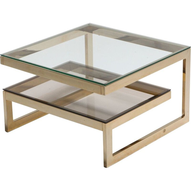 Gold-Plated 'G' Shaped Occasional Table - 1970's