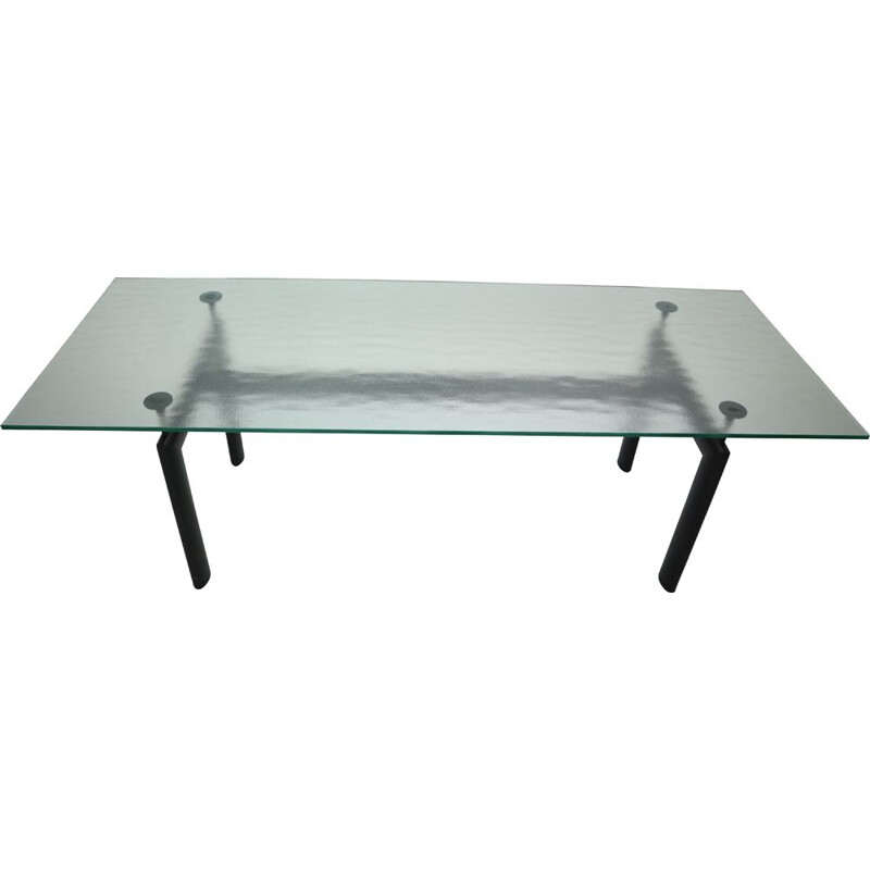 Glass Dinning Table Le Corbusier For Cassina, Italy 1970s