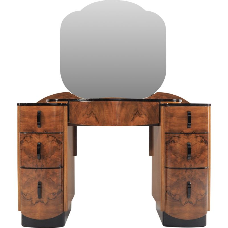 Dressing Table vintage with Mirror by Jindřich Halabala, 1950s