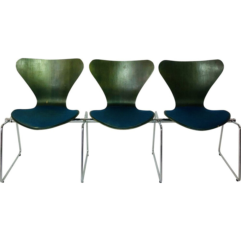 Bench 3 seats vintage Arne JACOBSEN