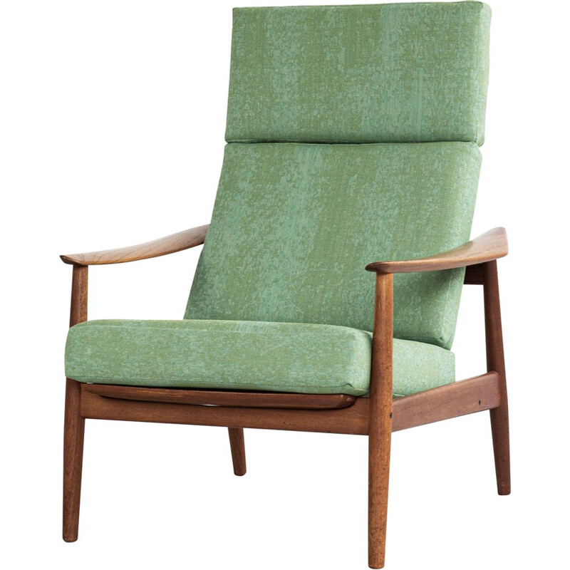 High back easy chair in teak by Arne Vodder for France and Søn 1960s