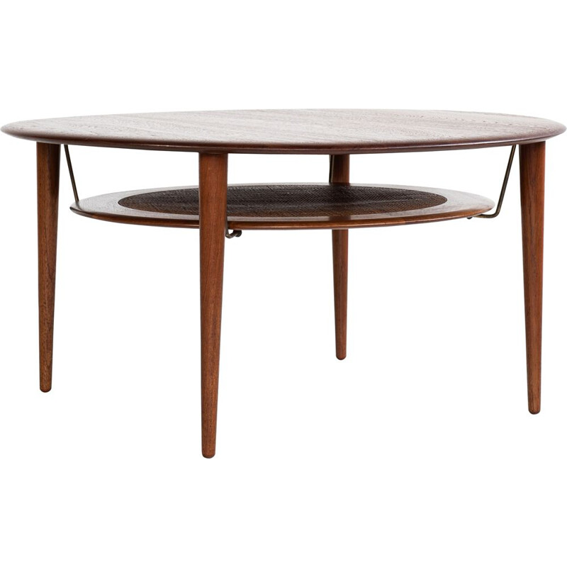 Round Coffee Table Midcentury in Teak by Hvidt and Mølgaard for France and Søn
