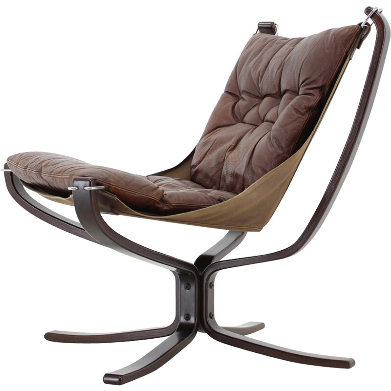 Falcon Chair vintage by Sigurd Ressell for Vatne Mobler 1970s