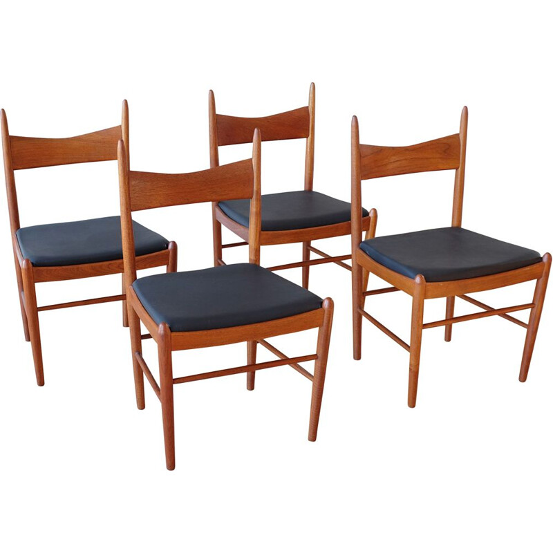 Set of 4 Teak Dining Chairs by Illum Wikkelsø 1960