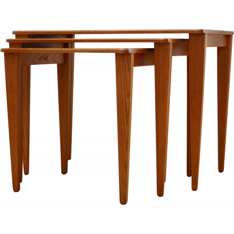 Nesting tables in teak and beech wood gordon russel 1960s nesting tables in teak and beech wood gordon russel 1960s watchthetrailerfo
