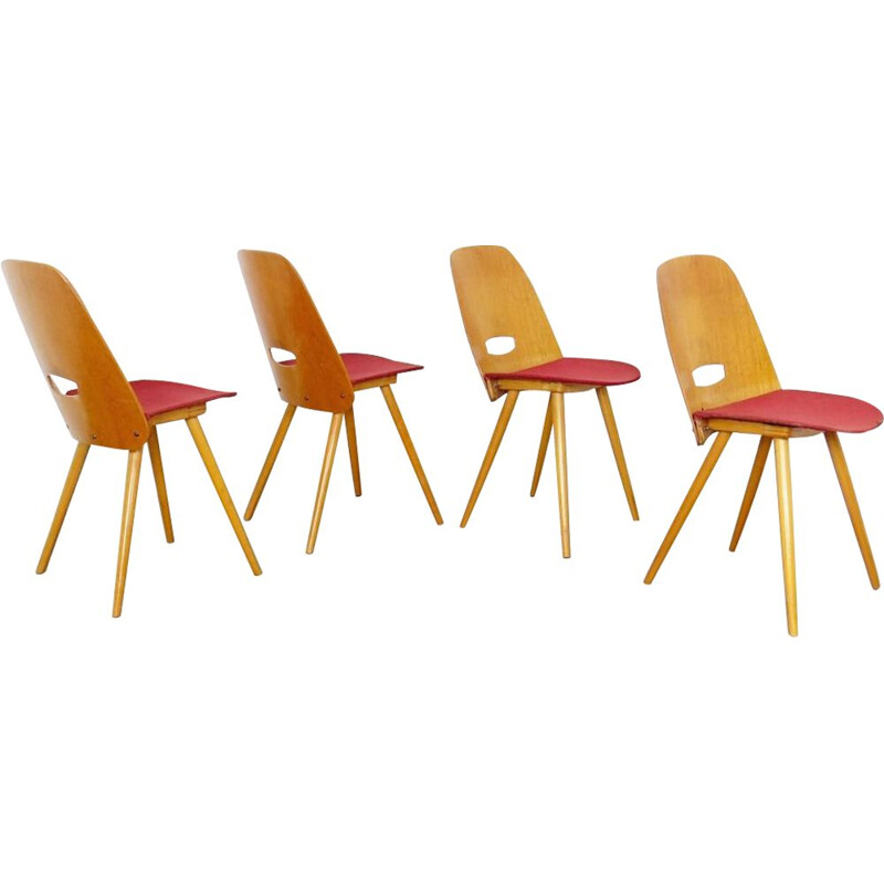 Set of Dining chair by Frantisek Jirak Czechoslovakia 1960s