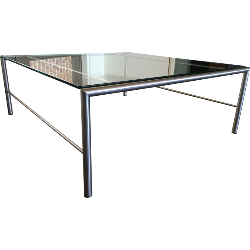 Stainless Steel Coffee Table vintage by Martin Visser for t Spectrum, 1980s
