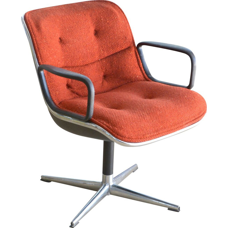 Vintage executive chair by Charles Pollock, Knoll edition 1963