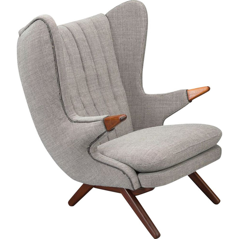 Armchair vintage Model 91 Wing Back  by Svend Skipper for Skipper, Danish 1950s