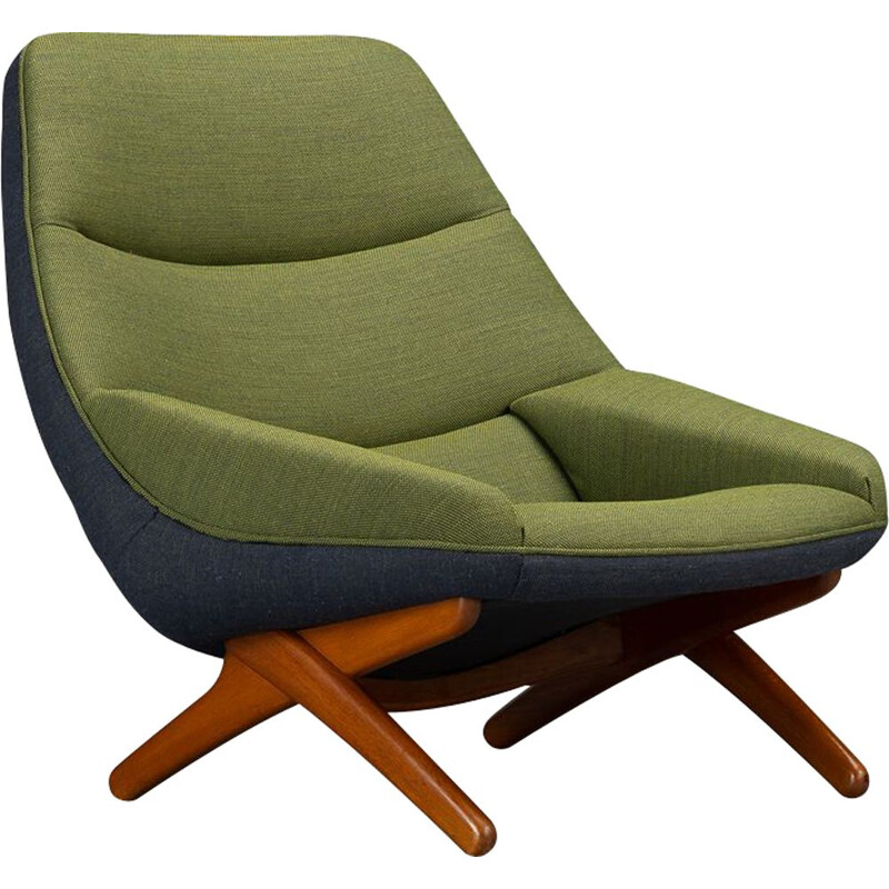 Lounge Chair vintage Model ML-91Reupholsteredby Illum Wikkelsø, Danish 1960s