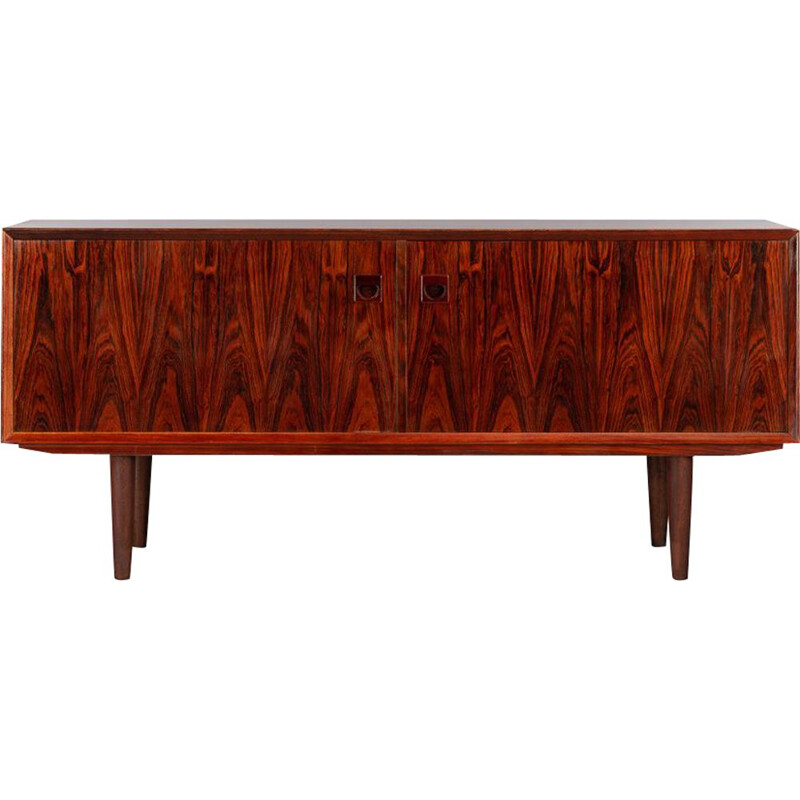 Low Sideboard vintage Danish Rosewood by Brouer for Brouer Møbelfabrik, 1960s