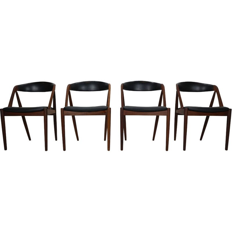 Set of 4 Teak 'a' vintage Frame Chairs Kai Kristiansen Model 31 for Schou Andersen, 1960