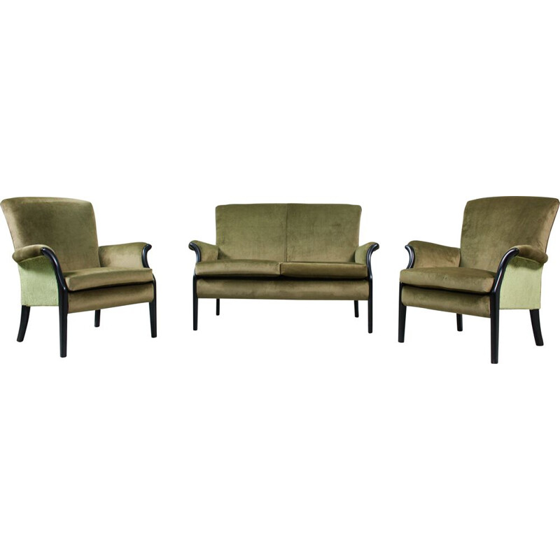 Set of 3 Vintage Lounge Chair and Sofa by Parker Knoll, 1960s