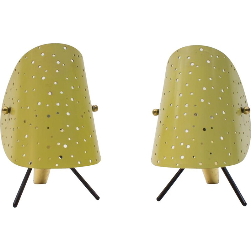 Pair of Table Lamps Mid-Century by Ernst Igl for Hillebrand,German 1950s