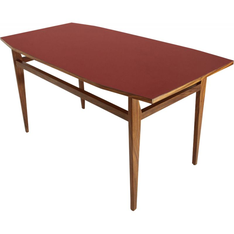 Dining Table Vintage Red Formica Top Italia 1950s Design Market