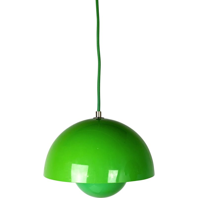 Pendant Lamp vintage Green Flower Pot by Verner Panton for And Tradition