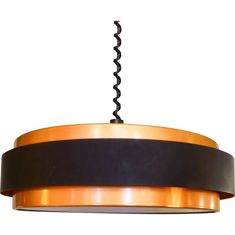 Vintage Ceiling Lamp Dano Circular by Joe Hammerborg for Fog and Morup, 1960s