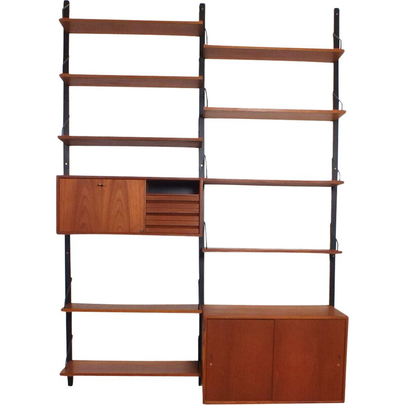 Vintage Heigh Royal shelving system Teak by Cadovius 1948