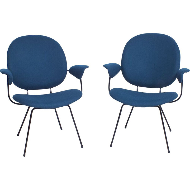 Pair of Easy chair vintage Kembo 302 by Willem Hendrik Gispen 1952