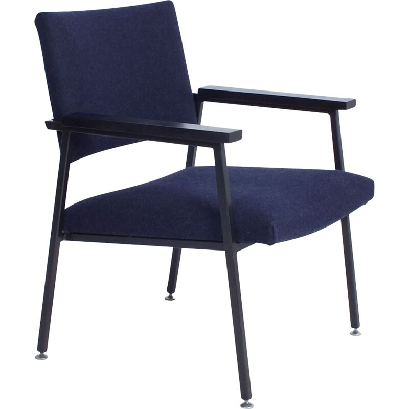 Dark blue chair vintage Gispen Z10