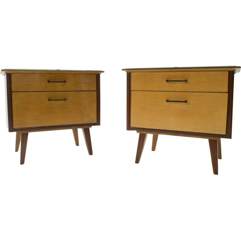 Pair of Mid-Century Nightstands, 1950s