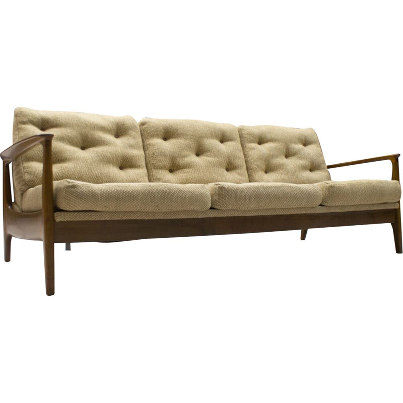 Teak Sofa-Daybed vintage by Eugen Schmidt for Soloform, 1960s