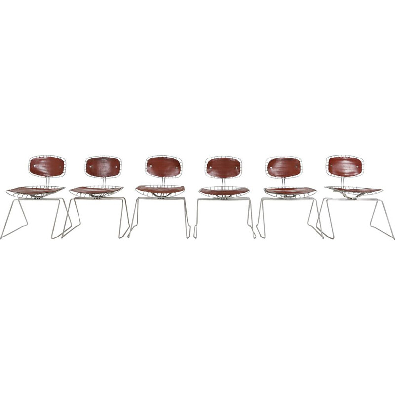 Set of 6 Beaubourg Chairs by Michel Cadestin for the Pompidou Centre 1976
