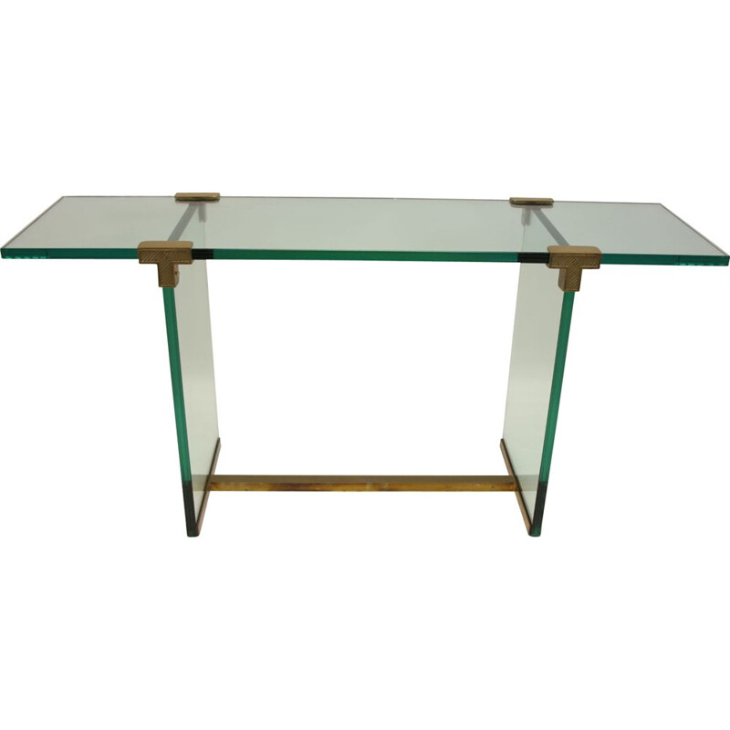 Vintage glass side table Consult by Peter Ghyczy