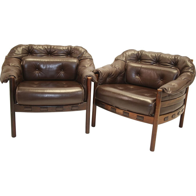 Pair of Armchairs vintage Rosewood by Sven Ellekaer