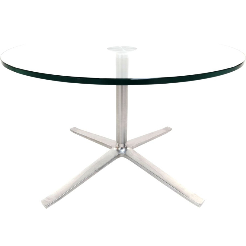 Coffee table Vintage Glass and aluminium Walter Knoll by PearsonLloyd