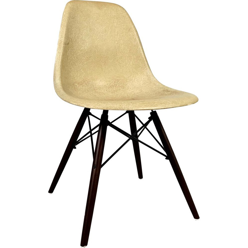 Dining Chair vintage Cream DSW by Charles and Ray Eames for Herman Miller, 1980s