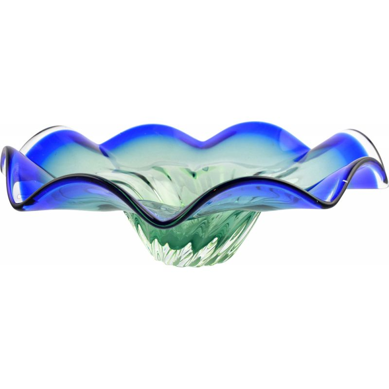 Vintage glass bowl J. Hospodka, Chribska Sklarna, Czechoslovakia, 1970