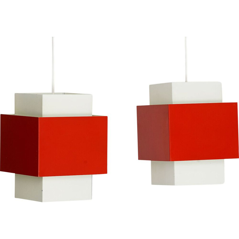 "Pair of Hans-Agne Jakobsson T174 ""Selectra"" vintage wall lights for H-A Jakobsson, Markaryd AB. Sweden 1960"