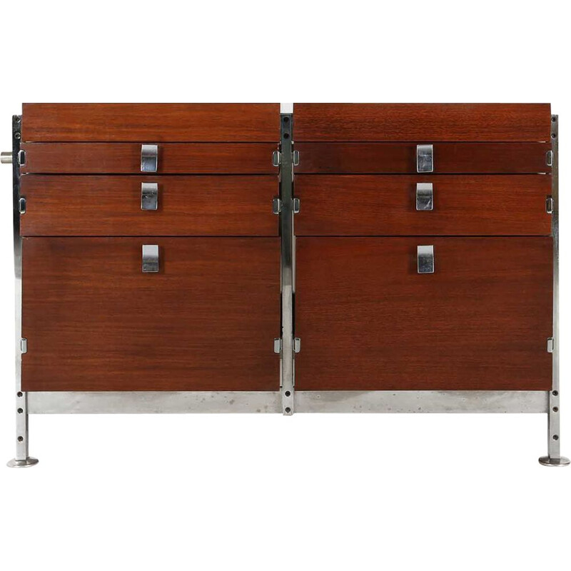 Double chest of drawers vintage by Jules Wabbes for  Mobilier Universel 1960