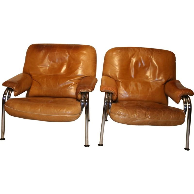 pair Kangeroo chairs from Hans Eichenberger for DeSede, switzerland 70s