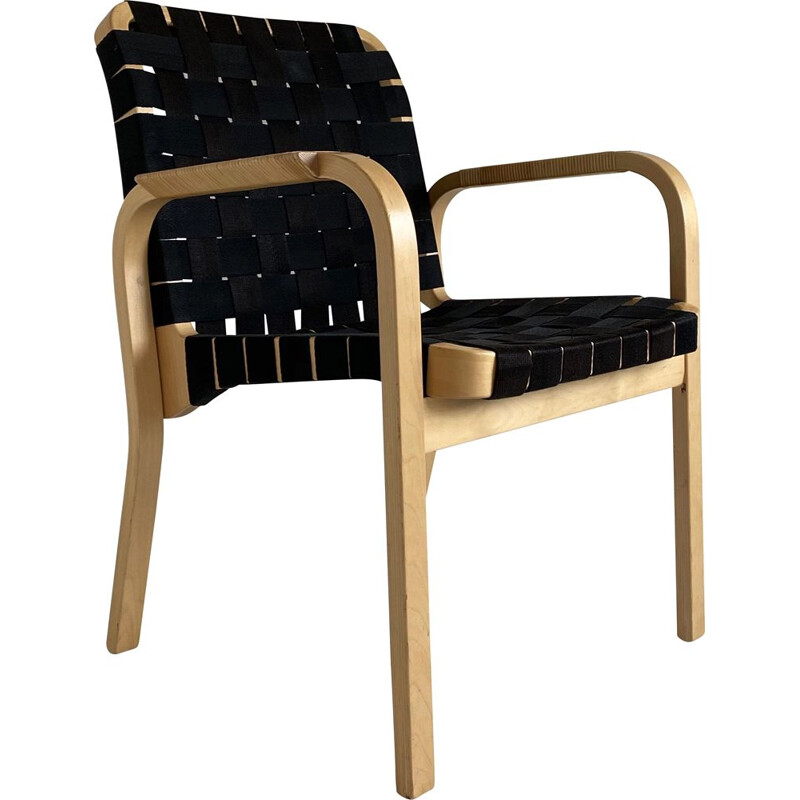 Bentwood 'Model 45' Chair by Alvar Aalto for Artek, Designed Mid Century 1940