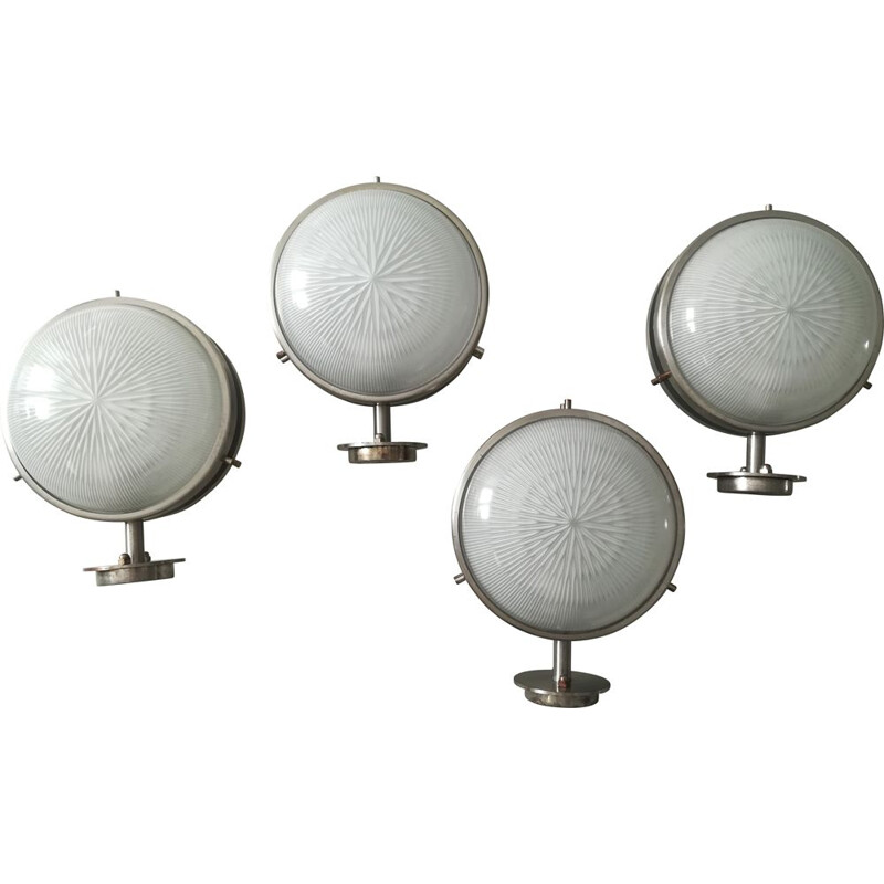 Set of 4 vintage wall lamps by Sergio Mazza for Artemide - 60s