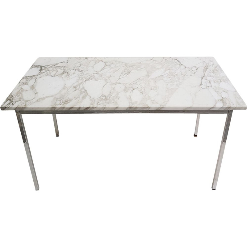 Vintage marble desk table by florence Knoll 1960