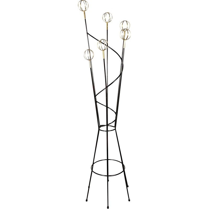 Geo Astrolabe vintage coat rack by Roger Feraud, 1950