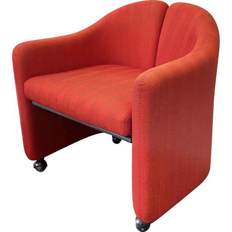 Armchair Red PS142  by Eugenio Gerli for Tecno Italy, 1960s
