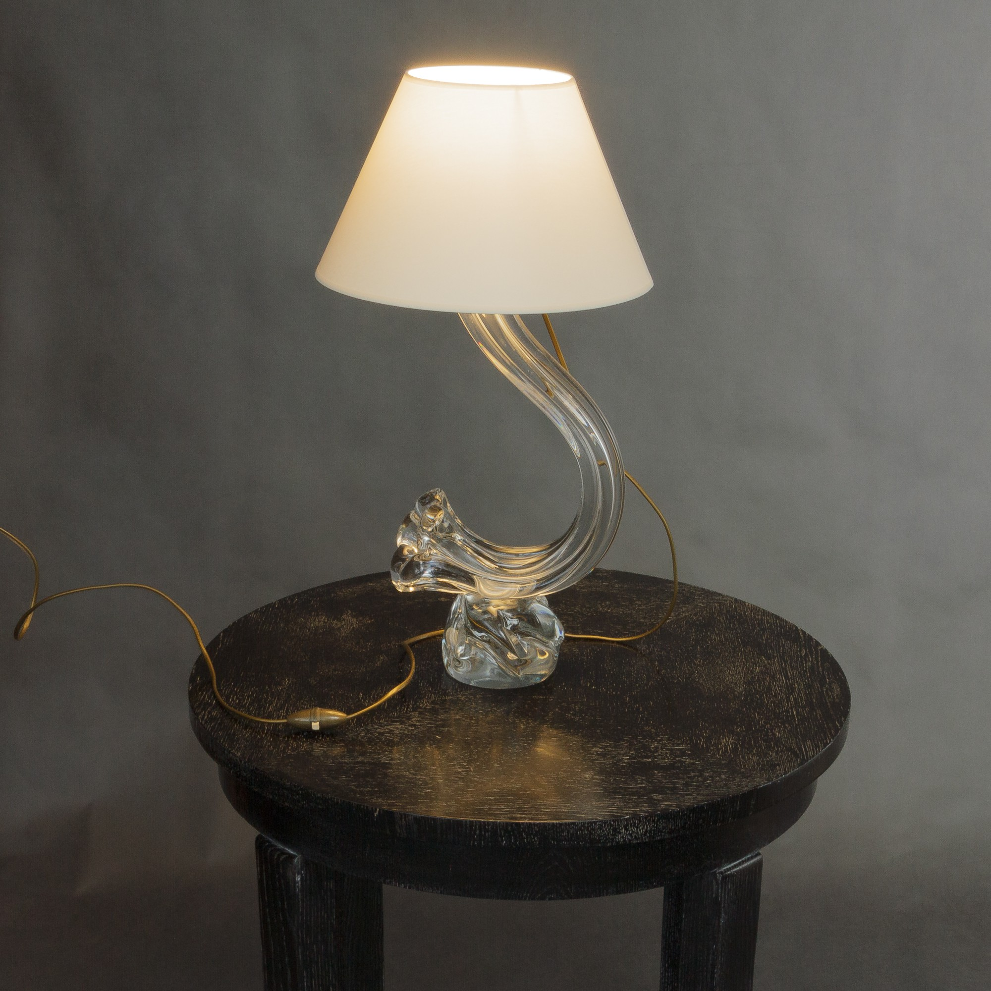 Daum Crystal Lamp With Lamp Shade 1950s Design Market