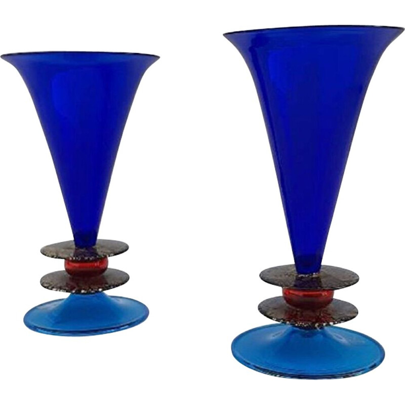 Pair of vases by Ettore Sottsass for Formia1985